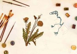 grafika | na beżowym tle rzeźba z drutu, portret tygrysa kartka z zielnika